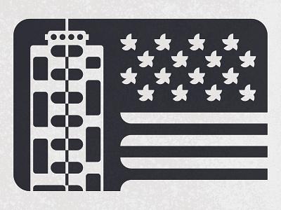Wroclaw Manhattan illustraion building architecture wroclaw manhattan greyscale flag vector