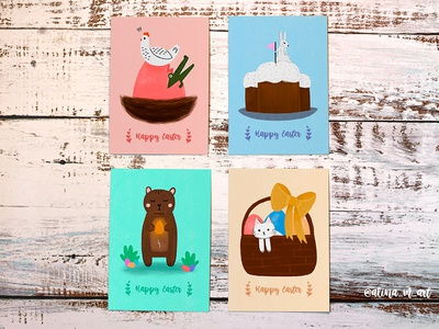 Easter gift postcards