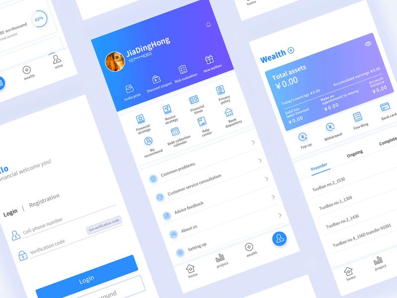 Financial App app ui illustration design