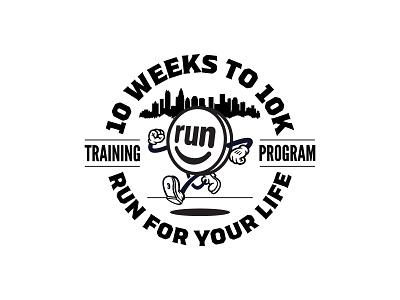 10 Weeks to 10K logodesign badgedesign badge seal emblem branding typography type illustrator logo design vector illustration graphic design logo