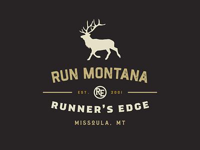 Run Montana Badge type emblem seal logo symbol typography illustrator branding badgedesign badges badge graphic design