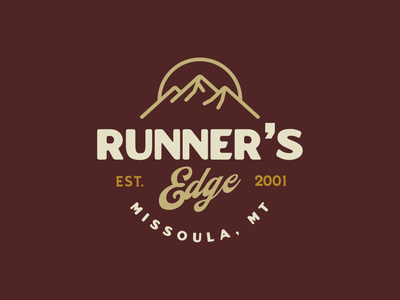 Runner's Edge Badge logo emblem branding type logo design typography icon graphic design badge logo badgedesign badges badge