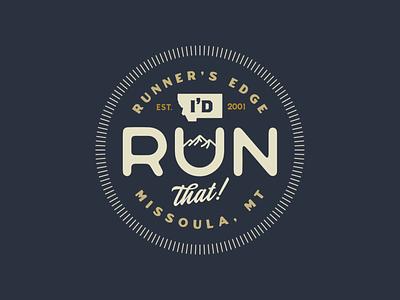 I'd Run That Badge graphic design design logo design branding typography type icon logo badge logo badgedesign badges badge