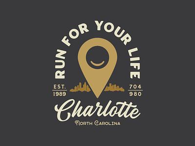 Run For Your Life Badge badgedesign badge logo badges typography type logo design design vector branding logo graphic design