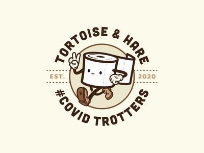 COVID Trotters Badge Logo