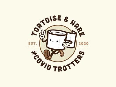 COVID Trotters Badge Logo bdagedesigner badgedesign badge type branding typography logo graphic design