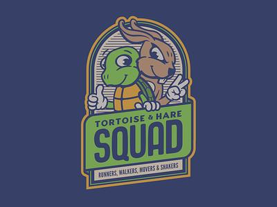 Tortoise & Hare Squad vector branding logo design typography graphic design logo badge logo beadgedesigner badgedesign badges badge
