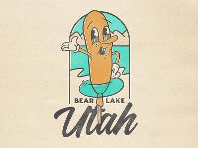 Corn Dog Boi badge food funny silly cartoon illustrator illustration