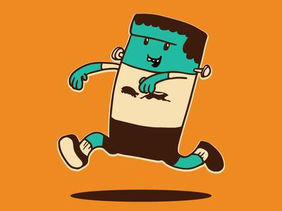 Frankie Mascot for a Halloween Run