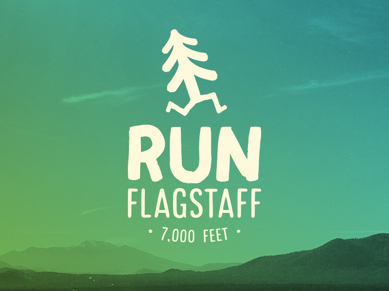 Run Flagstaff typograghpy type identity website brand illustrator branding icon logo design logo
