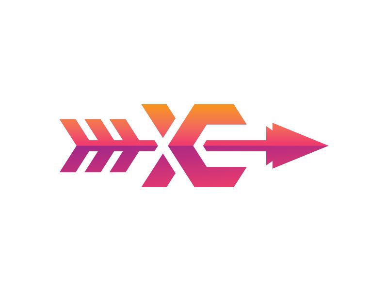 Cross Country Logo branding brand typograhphy type illustrator icon logo design logo