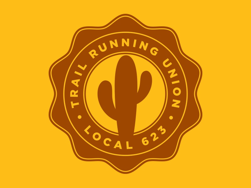 Trail Running Union Seal icon symbol seal emblem type typography graphic design