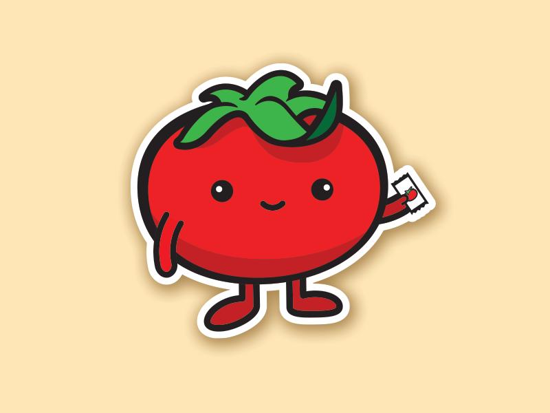 Lil' Tomato graphic design fun character design cartoon illustration