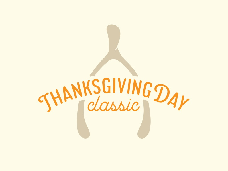 Thanksgiving Day Classic Logo icon symbol seal emblem logo type typography graphic design