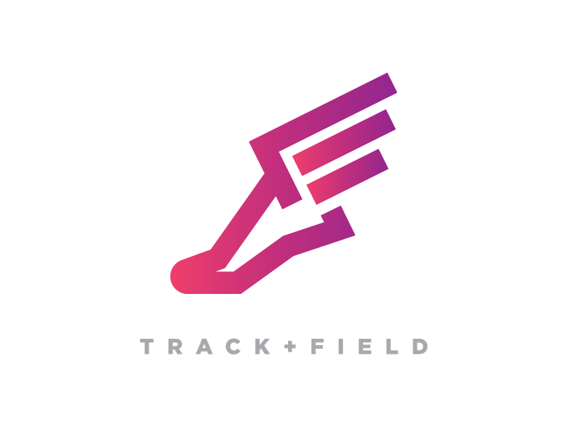 Track + Field Logo Option 3 icon symbol seal emblem logo type typography graphic design