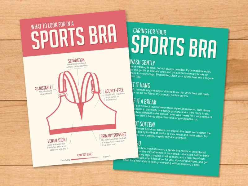 Sports Bra Info Card typesetting layout postcard print type typography graphic design