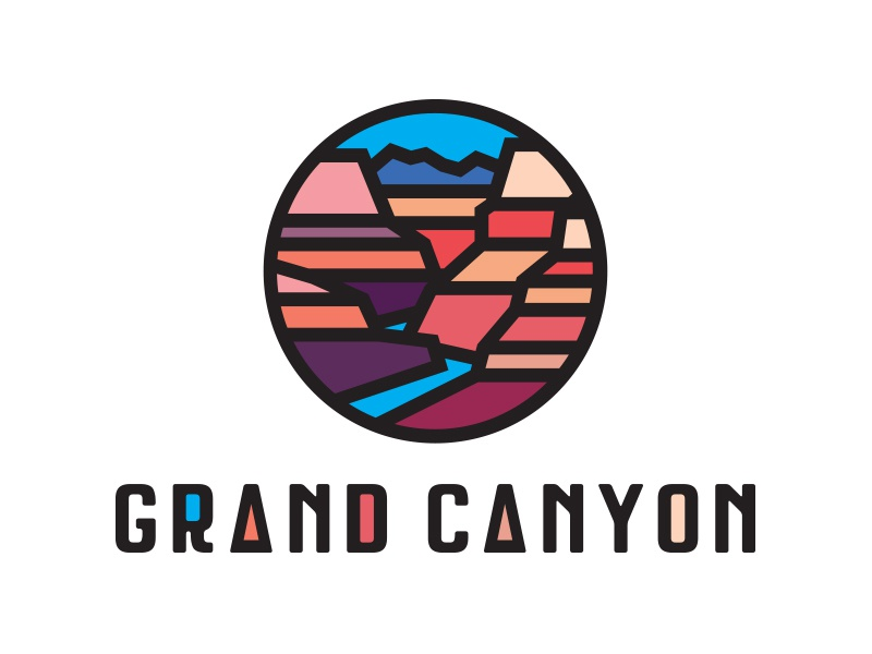Grand Canyon Tee Design icon symbol seal emblem logo type typography graphic design