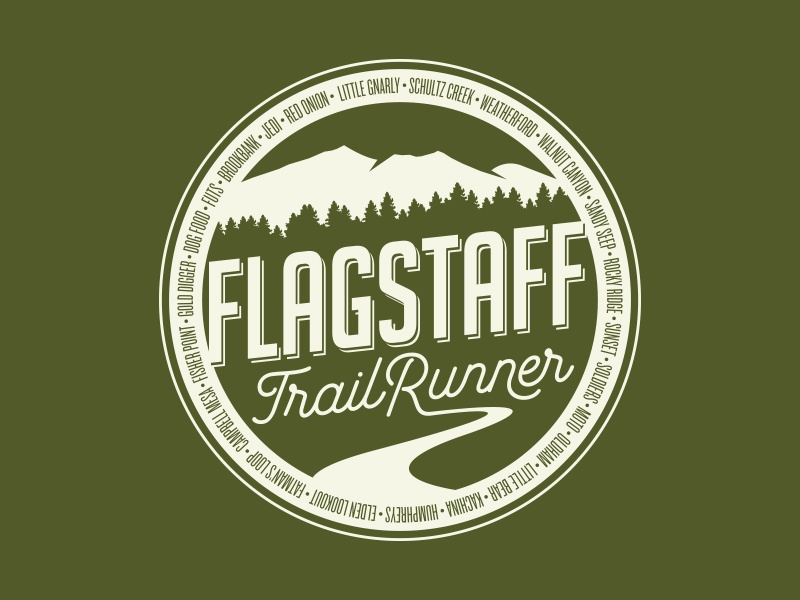 Flagstaff Trail Runner Tee design label seal emblem t-shirt graphic design