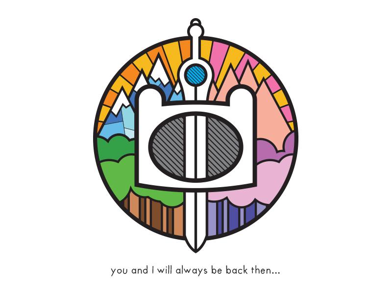 Back Then fun cartoon seal symbol logo design illustrator logo icon graphic design
