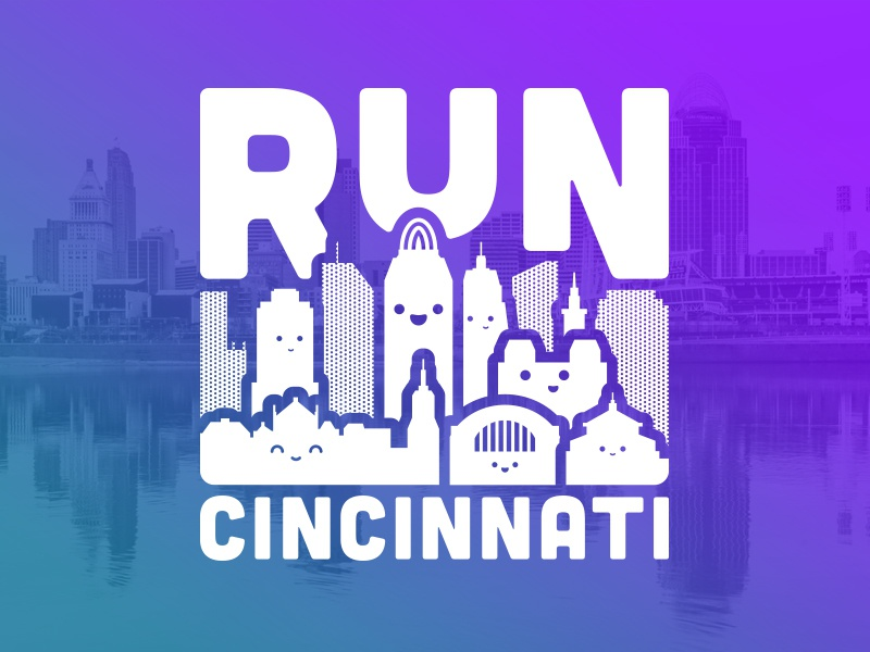Run Cincinnati Tee Concept tee design seal emblem typography type symbol logo illustrator graphic design