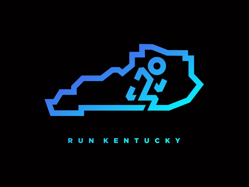 Run Kentucky - Tee Concept symbol seal emblem icon logo logo design graphic design