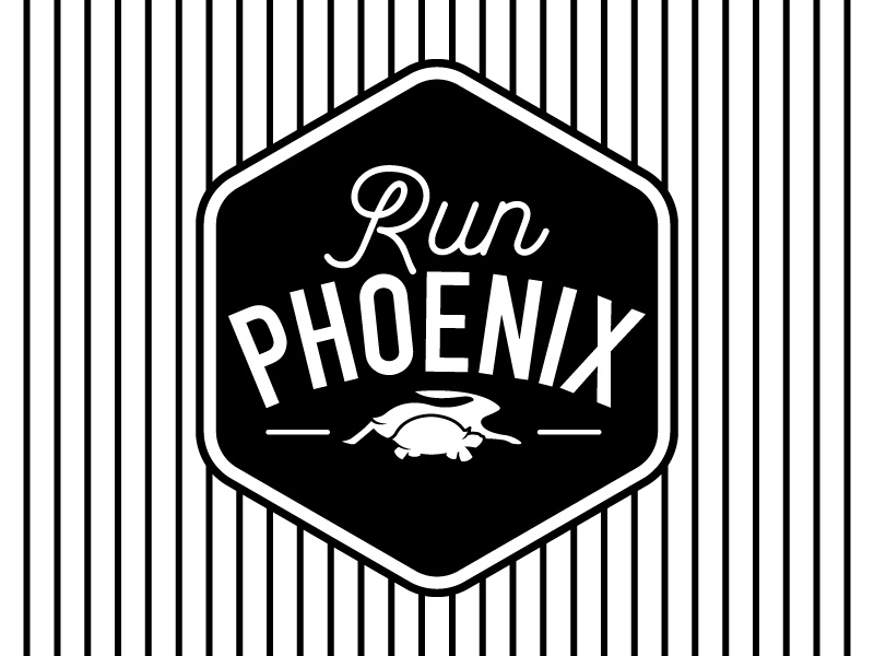 Run Phoenix icon logo symbol emblem branding seal illustrator logo design typography type design graphic design