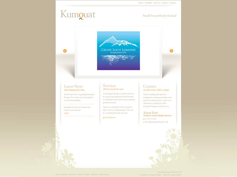 Kumquat ux design ui logo graphic design