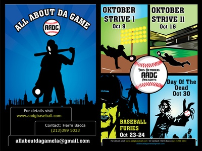 Baseball Event by AADG in LA Flyers flyer vector print media graphic design