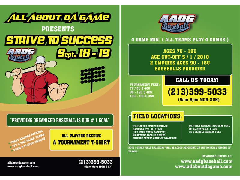 Baseball Event by AADG  Flyers flyer vector print media graphic design