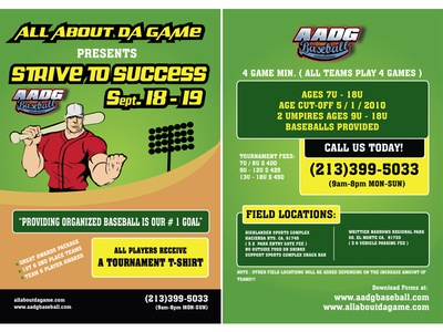 Baseball Event by AADG  Flyers