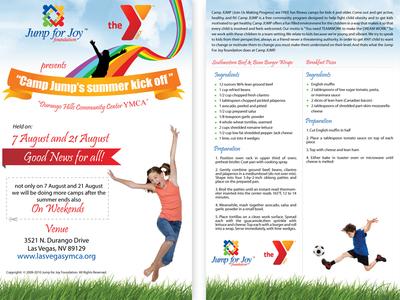 Jump 4 Joy Event Flyer flyer vector illustration graphic design