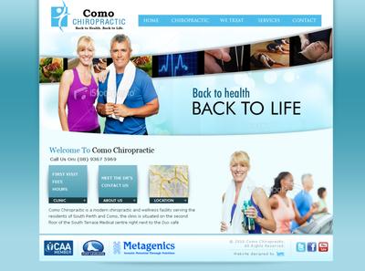 COMO web typography branding design graphic design