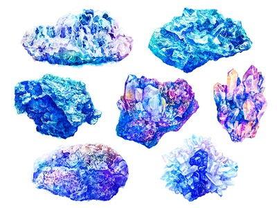watercolor minerals art