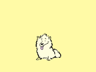 American Eskimo Dog procreate art procreate app procreate 100 day challenge dog illustrator american eskimo dog dogs day1 day 001 the 100 day project illustration