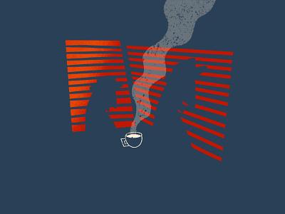 drip noir illustrator procreate art procreate app dusk procreate sunset blinds coffee detective illustration