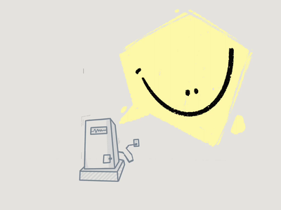 hi hello how are you? procreate art roboto smile illustrator procreate gif procreate animated gif design illustration