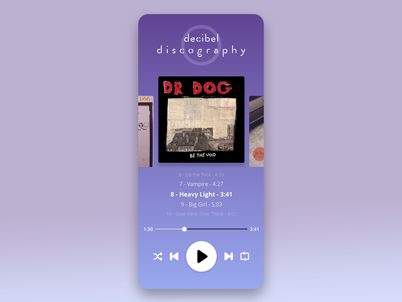 Day009 #DailyUI ui designer music dr.dog ui design daily009 daily 100 challenge adobexduikit uikit app ux ui adobexd design dailyui