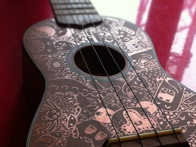 Ukulele Custo Samnuts ukulele posca custom samnuts