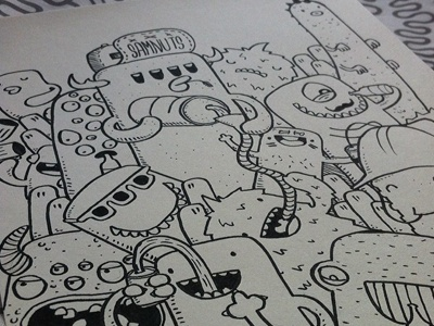 Beer Or Not Two Beer doodles monsters beer illustration samnuts