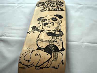 Panda Skate skate skateboard posca panda samnuts