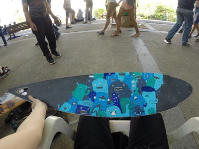 Pintail Longboard X Blackkross pintail longboard custom posca blackkross doodles monsters samnuts