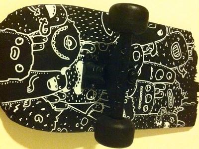 Broken Board broken board custom posca doodle monster samnuts