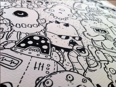 Illus posca doodles monster samnuts