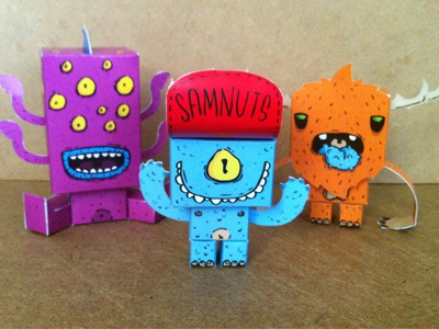Paper Toys paper toy monster samnuts