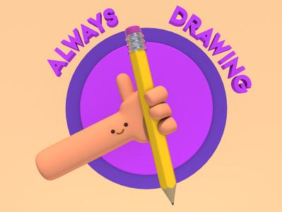 Always Drawing illustration render low poly design 3d art 3d