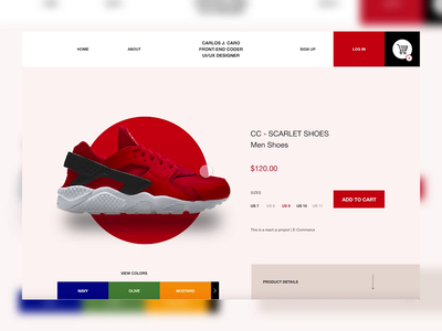 Shoes E-Commerce React Js Project