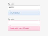 Zip Code Feedback States