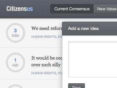 Consensus vote consensus collaboration ui button