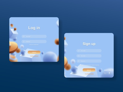 Sign UP UX/UI blue uxui signup dailyui
