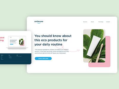 Landing Page details web design minimal dailyui uxui